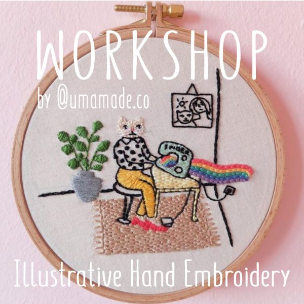 online embroidery workshop
