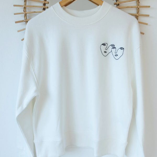 lovers sweatshirt embroidery