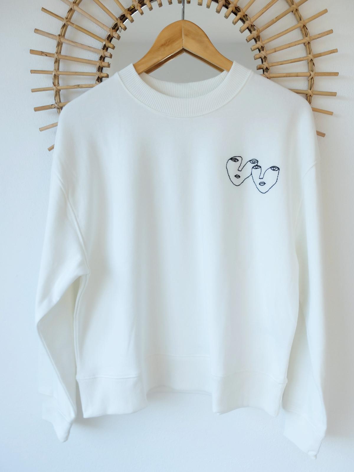 lovers sweatshirt embroidery