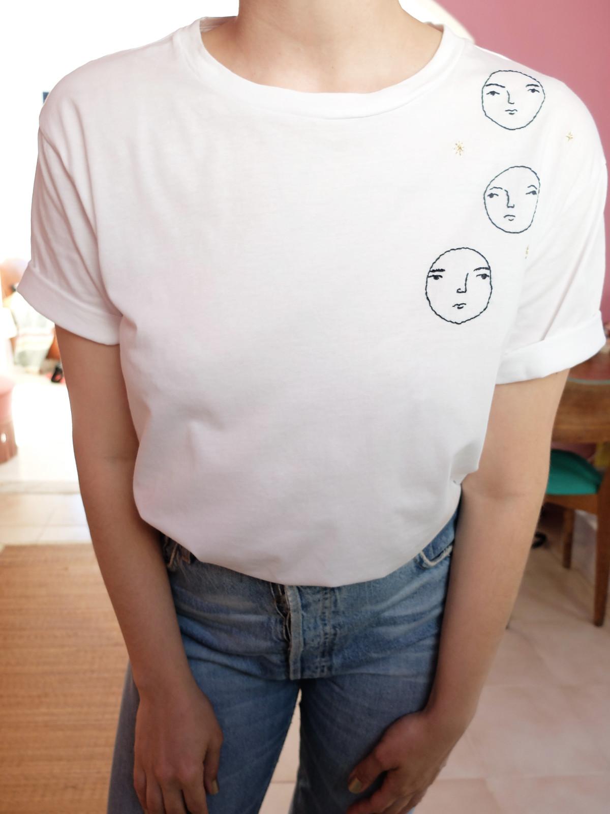 three faces tshirt