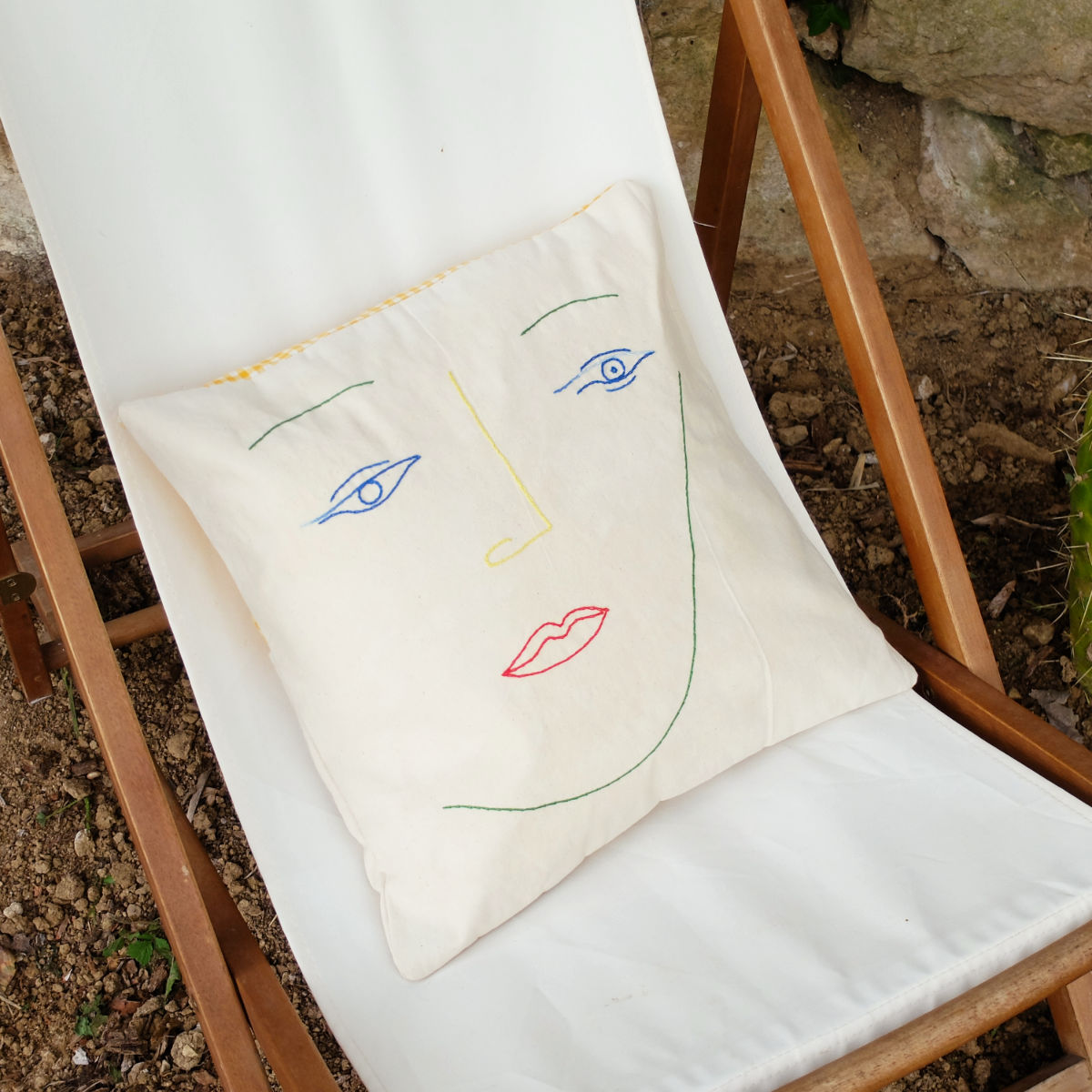 colorful face pillow case