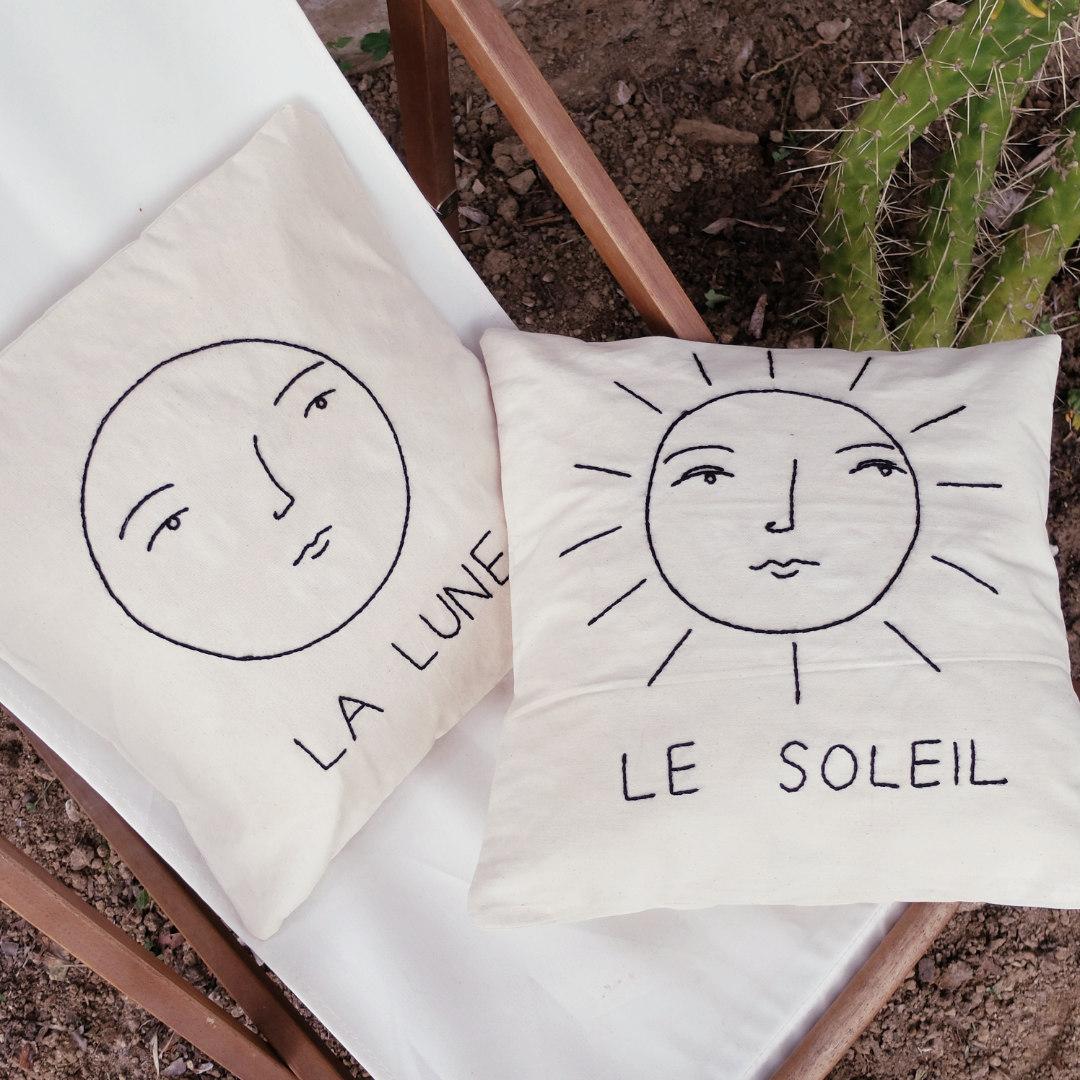 the sun and the moon pillowcase
