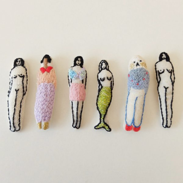 mini embroidered stuffed characters