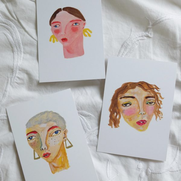 Set of 3 Postcards