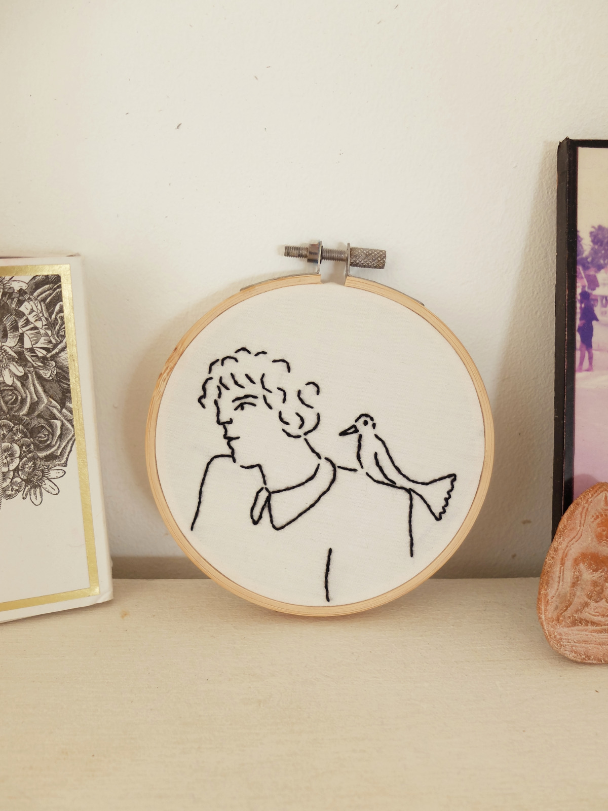 self invented thoughts embroidery