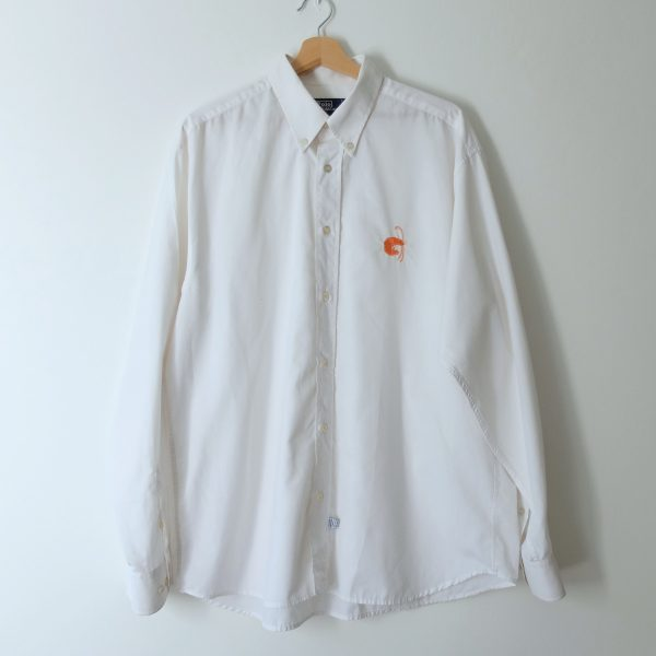 white shirt with shrimps