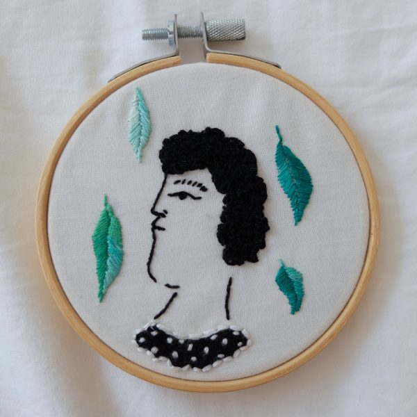 The Muse In Green hoop